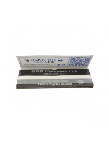 Papel de Fumar Ocb Premium 1 1/4 100Und