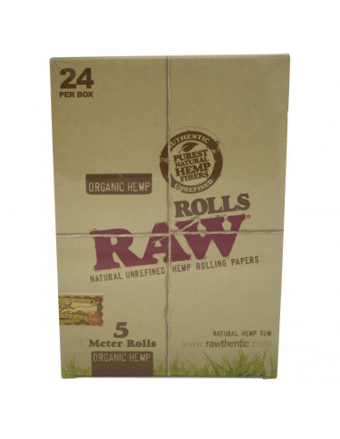 Papel de Fumar Raw Rolls Orgánico (24...